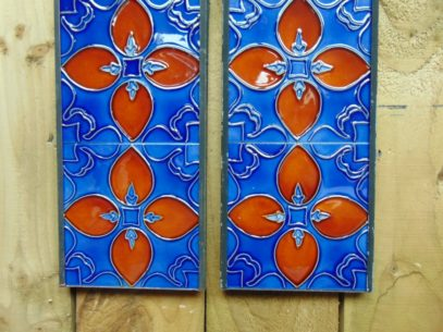 Art Nouveau Styled Reproduction Fireplace Tiles R058Antique Fireplace Company