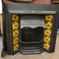 Victorian Tiled Fireplace Insert - 1972TI - The Antique Fireplace Company