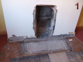 Remove existing fireplace and fire back - Antique Fireplace Fitting