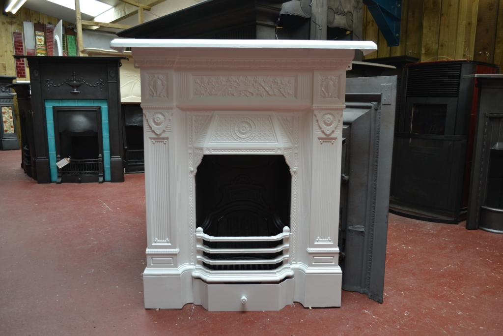 Antique Painted Cast Iron Fireplace The Scotia 1815mc