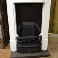 Painted Mini Edwardian Fireplace Antique Fireplaces