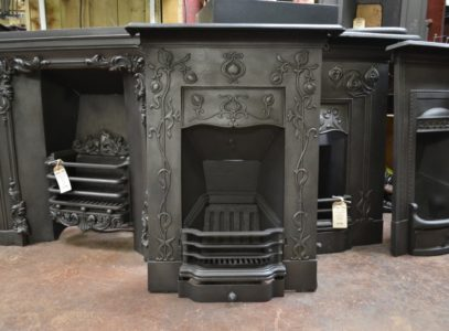 Attractive Art Nouveau Bedroom Fireplace 1983B Oldfireplaces