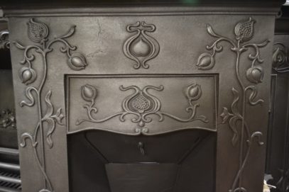 Attractive Art Nouveau Bedroom Fireplace 1983Bd Oldfireplaces