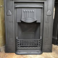 Art Nouveau Cast Iron Fireplace 1992LC Antique Fireplace Company