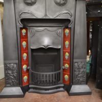 Unique Arts and Crafts Tiled Fireplace Old fireplaces