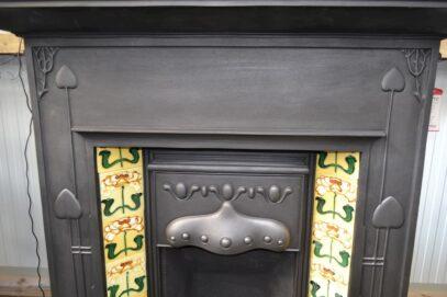 Art Nouveau Tiled Combination Fireplace 2007TC - Oldfireplaces