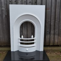 Painted Victorian Bedroom Arched Insert 2016AIq Antique Fireplace Company.