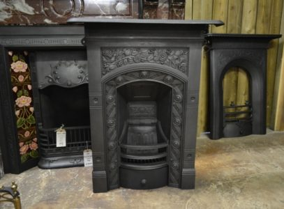 Antique Victorian/Arts & Crafts Bedroom Fireplace 1999B Old Fireplaces