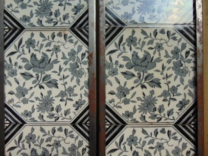 Original Arts and Crafts Tiles Arts2036 Old Fireplaces.