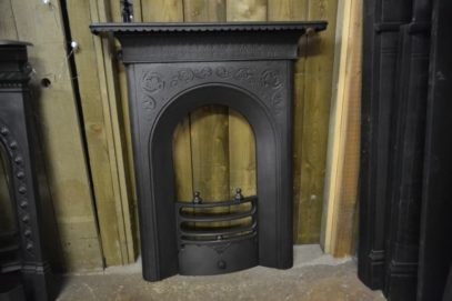 Early Victorian Bedroom Cast Iron Fireplace - 1338B = The Antique Fireplace Company