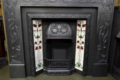 Art Nouveau Tiled Insert 131TI Old Fire Places.