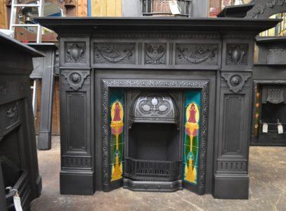 Art Nouveau Tiled Insert 131TI Old Fire Places.