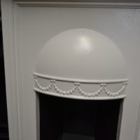 Painted Edwardian Bedroom Fireplace 2040B Antique Fireplace Company