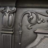 Pair of Victorian Art Nouveau Fireplaces 2050MC Antique Fireplace Company.