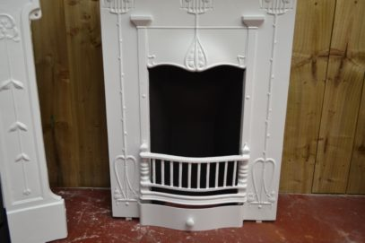 Painted Art Nouveau Bedroom Fireplace 2054B Antique Fireplace Company.
