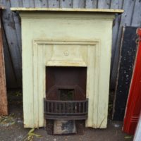 Painted Edwardian Cast Iron Fireplace 2059MC Old Fireplaces.