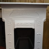 Painted Art Nouveau Bedroom Fireplace 2077B Old Fireplaces.