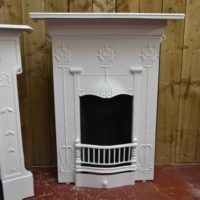 Art Nouveau Bedroom Fireplace - 2054B - The Antique Fireplace Company