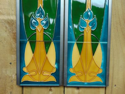 Reproduction Art Nouveau Fireplace Tiles R063 Antique Fireplace Company.