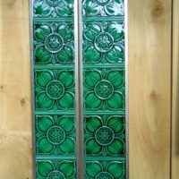 Green Reproduction Victorian Tiles R066 Antique Fireplace Company.