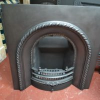 Victorian Cast Iron Arched Insert - 2065AI - The Antique Fireplace Company
