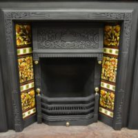 Original Victorian Tiled Insert 2086TI Antique Fireplace Company..