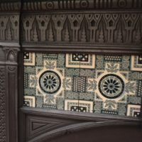 Mid Victorian Tiled Fireplace 2087TC Old Fireplaces.