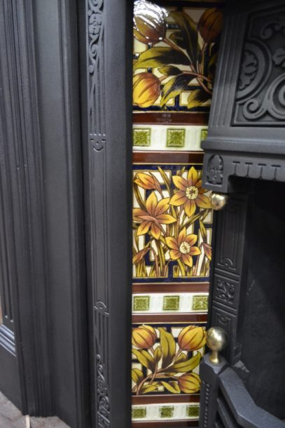 Original Victorian Fireplace Tiles V093 Old Fireplaces