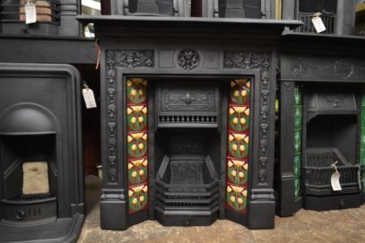 Victorian Primrose Tiled Combination Fireplace - 2057TC - The Antique Fireplace Company