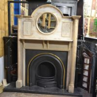 Original Edwardian Pine Fire Surround 3006W Antique Fireplace Company