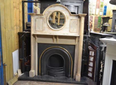 Original Edwardian Pine Fire Surround 3006W Antique Fireplace Company