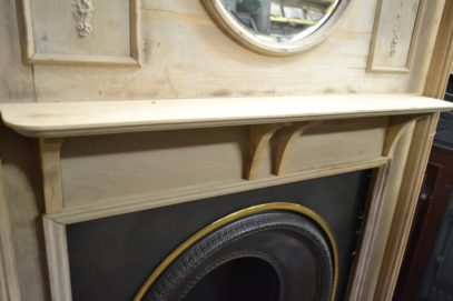 Original Edwardian Pine Fire Surround 3006WS Antique Fireplace Company