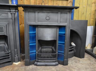 Original Edwardian Tiled Combination Fireplace 3007TC Old Fireplaces