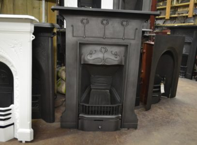 Original Art Nouveau Fireplace 3008MC Antique Fireplace Company