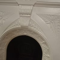 Painted Victorian Fern Bedroom Fireplace 3023B Old Fireplaces
