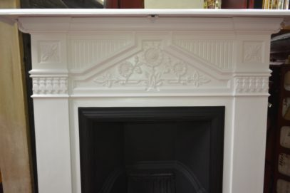 Black & White Victorian Daisy Fireplace 3026LC Antique Fireplace Company