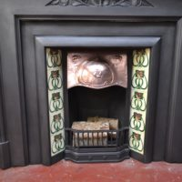 Original Tiled Art Nouveau Tiled Insert 3030TI Antique Fireplace Company