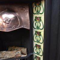 Original Tiled Art Nouveau Tiled Insert 3030TI Antique Fireplace Company