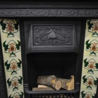 Reclaimed Art Nouveau Tiled Insert 3031TI Old Fireplaces