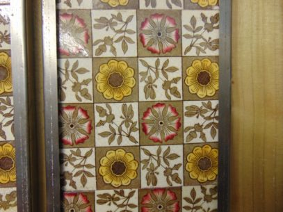 Original Aesthetic Movement Tiles Arts 013 Old Fireplaces
