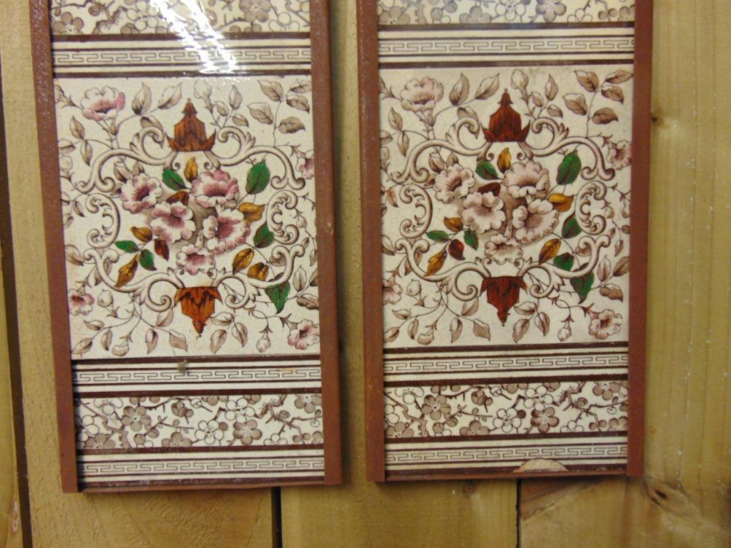 Original Victorian Fireplace Tiles V009 Antique