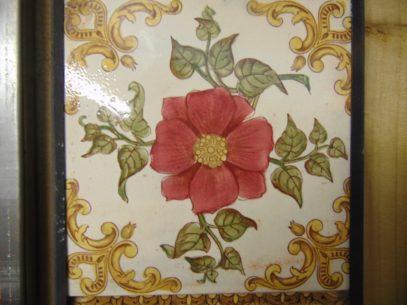 Floral Victorian Fireplace Tiles V025 Old Fireplaces
