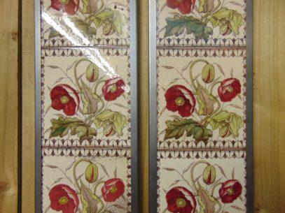 Poppy Victorian Fireplace Tiles V093 Old Fireplaces