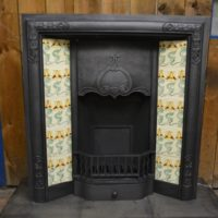 Edwardian Art Nouveau Tiled Insert 3049TI Old Fireplaces