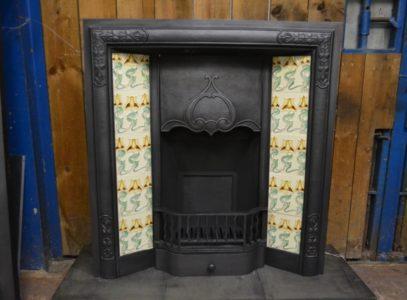 Edwardian Art Nouveau Tiled Insert 3049TI Old Fireplaces