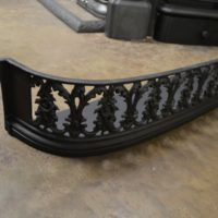 Early Victorian Cast Iron Fender 3050FE Antique Fireplace Company