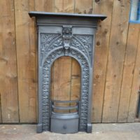 Victorian Cast Iron 'Fern and Ivy' Bedroom Fireplace – 3061B - The Antique Fireplace Company