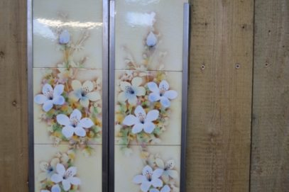 Spray of flowers Fireplace Tiles V004