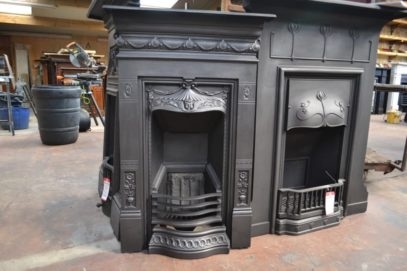Victorian Biclam Fireplace – 3073B - The Antique Fireplace Company