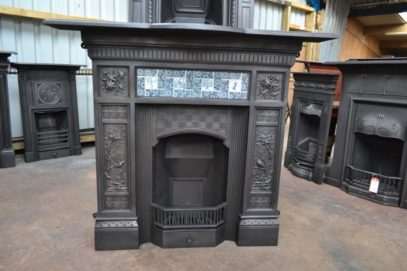 Victorian Arts & Crafts Tiled Fireplace - 3080TC - The Antique Fireplace Company
